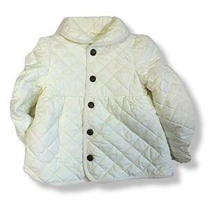 Ralph Lauren Light Weight White Quilted Coat 4/4T